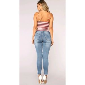 2ad71bfc Fashion Nova Pants | Work For My Love Distressed Jeans | Poshmark